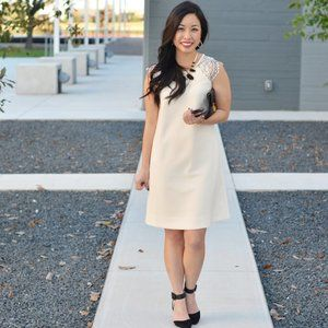 J. CREW Edged Lace Cap Sleeve Shift Dress {HH37}